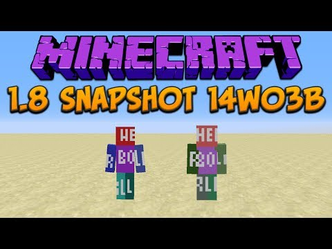 Minecraft 1.8 Snapshot 14w03b: New Skin Feature, Clone & Fill Commands