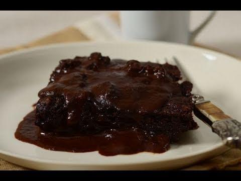 Chocolate Pudding Cake Recipe Demonstration - Joyofbaking.com