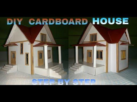 How To Make a Cardboard House - step by step