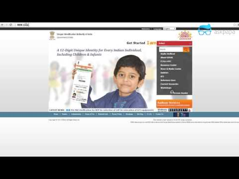 Changing Details on Aadhar Card 2015 - Shortest Video