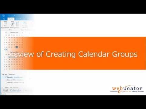 Creating Calendar Groups in Microsoft Outlook