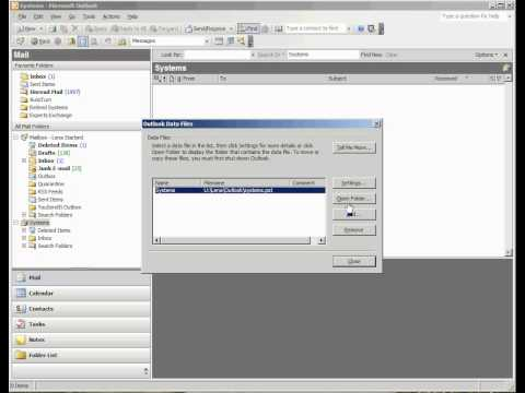 How to Check Outlook 2003 PST File Size and Make a Backup