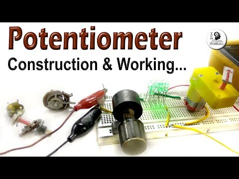 Potentiometer Construction and Working principle - Linear and Audio taper Potentiometers