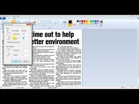 How to Blur A Image Using MS Paint