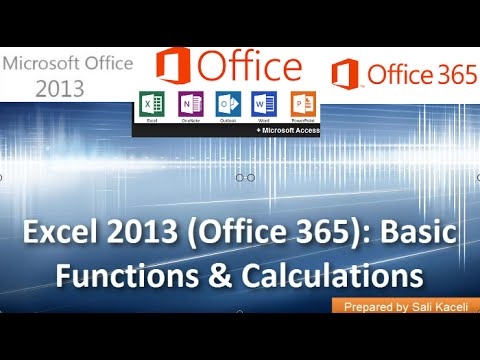 Basic Excel Formulas Multipy Divide Subtract In Excel 2013 Office 365