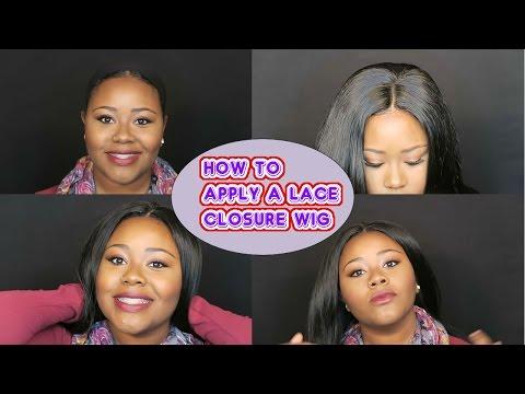 How to make a lace closure look natural using eyelash glue & hairspray