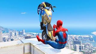 GTA 5 Spiderman Epic Jumps #8 ( Spider-Man Stunts & Fails )
