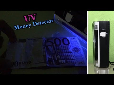 Portable UV Counterfeit Money Detector