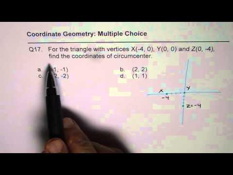17 Find Coordinates of Circumcentre of Right Triangle