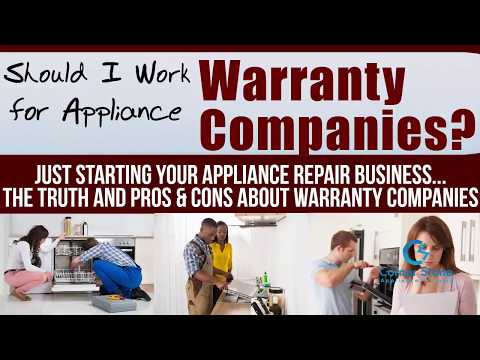 Appliance Repair Training - Home Warranty Company Appliance Jobs - Pros and Cons