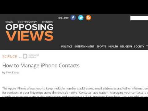 How-To Manage Contacts Using Itunes