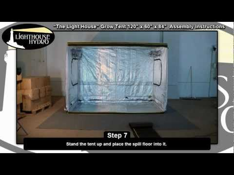 2012 Lighthouse Hydro Grow Tent - 10' x 5' x 7' Assembly Instructions