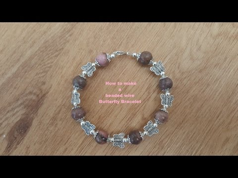 How to make a Beaded Bracelet with memory wire.