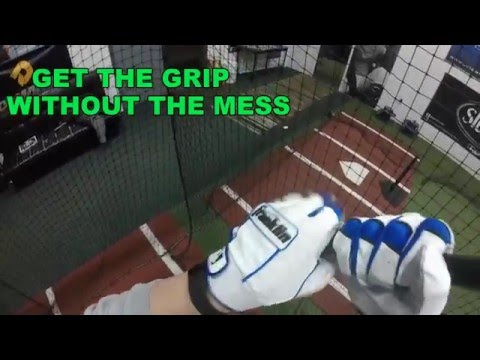 How To Grip A Baseball Bat --- Use Sticky & Clean Lizard Skins Grip Boost