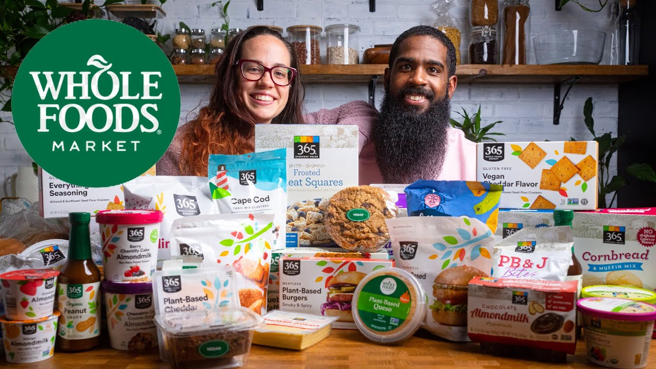 Can Whole Foods 365 Vegan Line Stack Up To Name Brands?   Vegan Grocery Haul / Taste Test