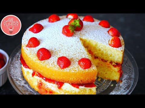 Victoria Sponge Cake Recipe | Бисквитный Tорт Виктория