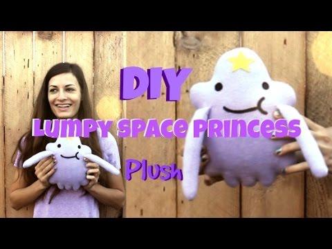 How to Make a Stuffed Animal Lumpy Space Princess Plush DIY! || Adventure TIME Plushie Tutorial!