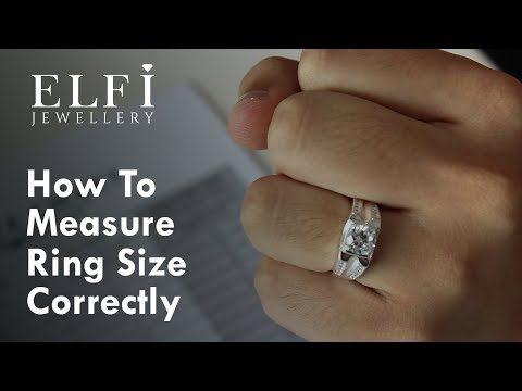 [TUTORIAL] How to Measure Your Ring Size Correctly - Elfi Jewellery