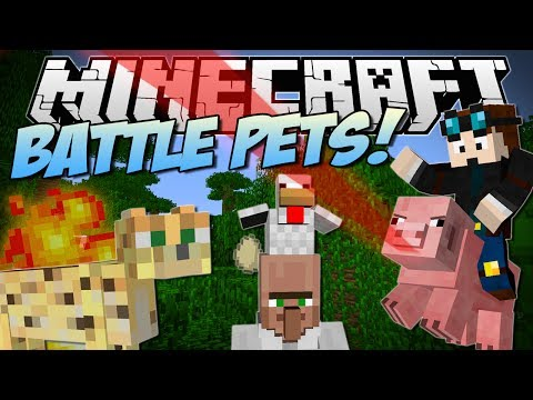 Minecraft | BATTLE PETS! (Aggressive Pigs, Angry Ocelots & More!) | Mod Showcase