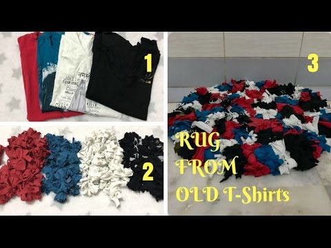 How to Make a Rag Rug Using Old T-Shirts | Recycle & Reuse your Clothes by Live Creative