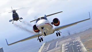 Chasing a Bank Robbers by Land and by Air | GTA 5 Short film