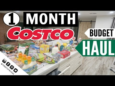 SEPTEMBER 2017 ● MONTHLY COSTCO FAMILY GROCERY HAUL ● SHOP WITH ME ● HOW TO GROCERY SHOP ON A BUDGET