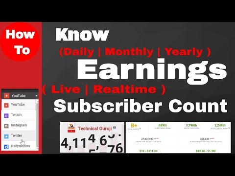 Know Any Youtuber Income 💲  Real time subscriber count :SocialBlade #️
