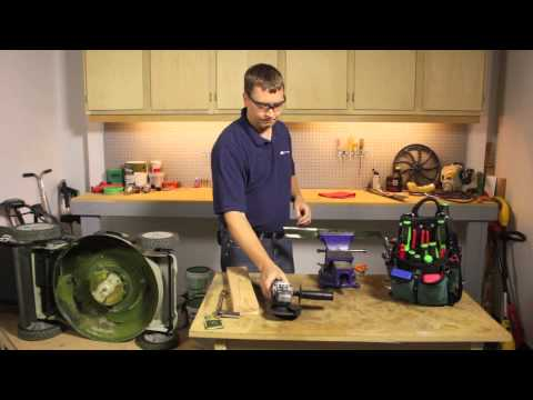 How to Sharpen Electric Mower Blades : Lawnmower Maintenance & Repair