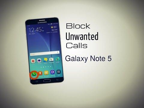 Block Unwanted Calls Samsung Galaxy note 5