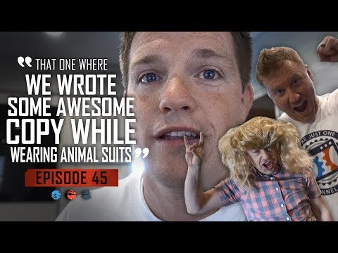 That one where we wrote some Awesome Copy while wearing Animal Suits... Funnel Hacker TV Episode 45