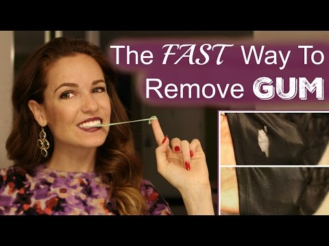 The FASTEST Way To Remove Gum From Your Clothes!!!  **Affordably FABULOUS**