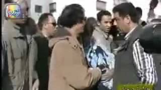 Gaddafi Comforts The People After The First Bombs Fall.