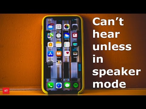 Can't hear on iPhone unless in speaker mode