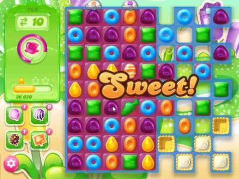 Candy Crush Jelly Saga Level 765 - NO BOOSTERS (FREE2PLAY-VERSION)
