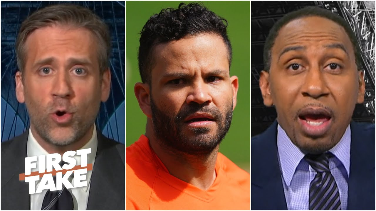 Should fans stop booing the Astros for cheating? Stephen A. and Max don't think so | First Take