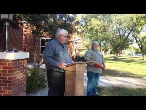 Video #1 - Veterans Day Flag Burning Ceremony with Master Sergeant Crag Mann