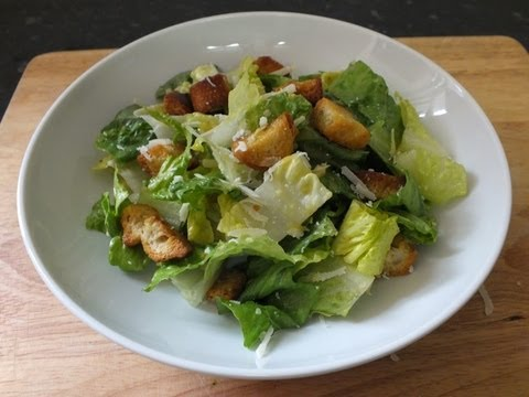 Homemade Caesar Salad Recipe - Classic salad dressing Ingredients from scratch