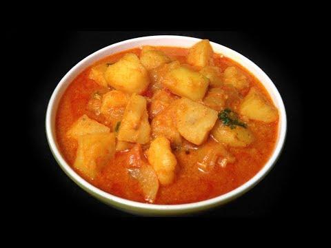 Spicy Aloo Kurma | Spicy Potato Gravy | Side dish for Veg Biryani / Chapati / Puri / Roti