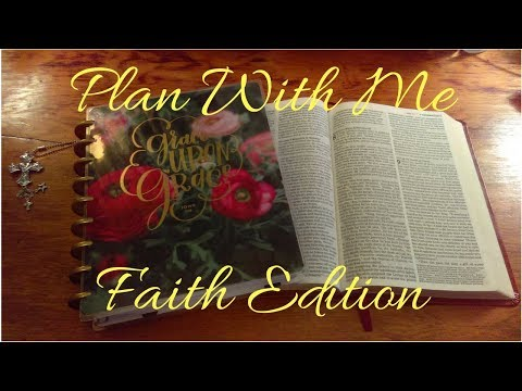 Plan With Me in My Faith Planner May 21st Through 27th, 2018