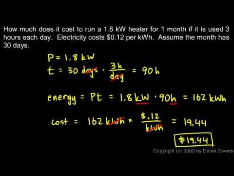 Physics 13.3.3a - The Kilowatt hour