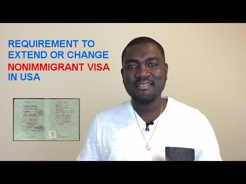 REQUIREMENT TO EXTEND YOUR NONIMMIGRANT STATUS IN USA