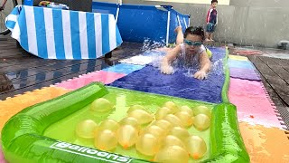 Bunch O Balloons Water Slide Wipeout and Water Balloons