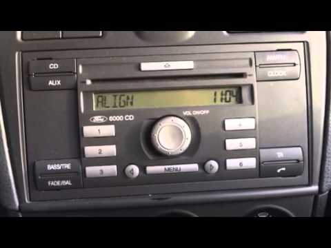 how to find pin and serial number for a ford fiesta's radio?