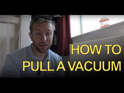 HOW TO PULL A VACUUM - Apprentices - Quick TRV change - Plumbing Tips