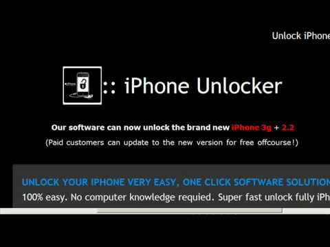 Unlock iPhone 3G (for firmware 2.2, available now at (www.Xiphone.org)
