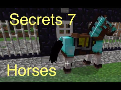 Minecraft: Secrets 7 - Horses (Saddle, Horse Armor, Taming)