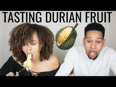 Tasting Durian Fruit For The First Time