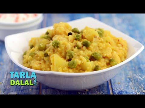 Fada Ni Khichdi, Daliya Khichdi, Broken Wheat Khichdi with Vegetables by Tarla Dalal
