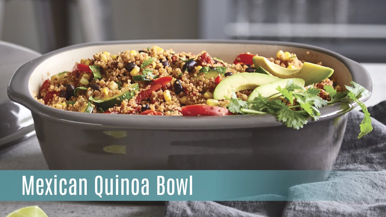 Mexican Quinoa Bowl with the Deep Covered Baker | Pampered Chef