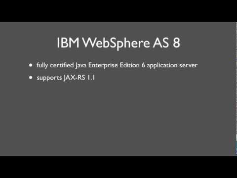 IBM WebSphere Application Server V8: Developing RESTful Web Services (JAX-RS)